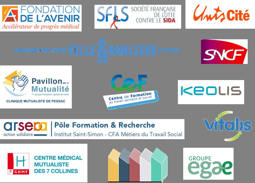 Liste des partenaires associatifs et privés de l'association ARESVI.