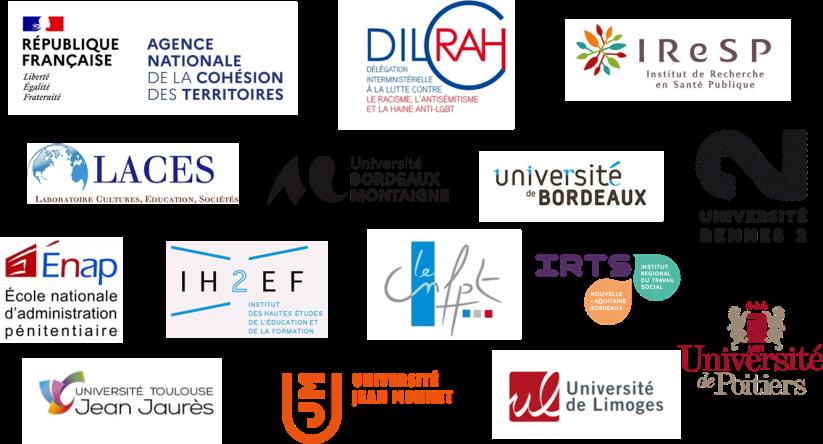 Logos des partenaires d'Etat et Universitaires de l'association ARESVI.
