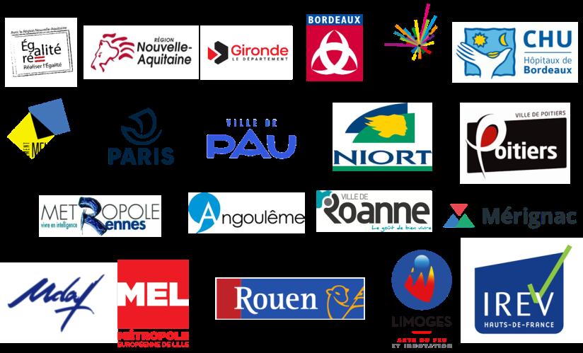 Liste des partenaires territoriaux de l'association ARESVI.