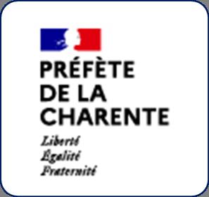 Logo représentant la préfecture de la Charente (16) et permettant d'accéder aux informations et ressources concernant les violences conjugales dans ce département.
