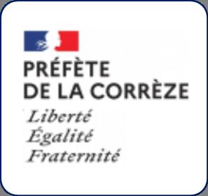 Logo représentant la préfecture de la Corrèze (19) et permettant d'accéder aux informations et ressources concernant les violences conjugales dans ce département.