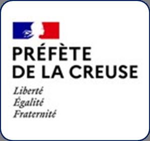 Logo représentant la préfecture de la Creuse (23) et permettant d'accéder aux informations et ressources concernant les violences conjugales dans ce département.