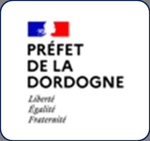 Logo représentant la préfecture de la Dordogne (24) et permettant d'accéder aux informations et ressources concernant les violences conjugales dans ce département.