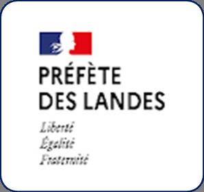 Logo représentant la préfecture des Landes (40) et permettant d'accéder aux informations et ressources concernant les violences conjugales dans ce département.