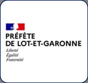 Logo représentant la préfecture de Lot-et-Garonne (47) et permettant d'accéder aux informations et ressources concernant les violences conjugales dans ce département.