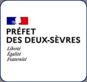 Logo représentant la préfecture des Deux-Sèvres (79) et permettant d'accéder aux informations et ressources concernant les violences conjugales dans ce département.